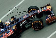 Jean-Eric VERGNE SIGNED RARE 12x8 Photo F1 Torro Rosso Test Driver AFTAL COA