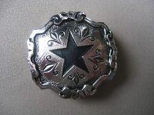 Scarf apache tie slide western square dance cowboy black star silver color New