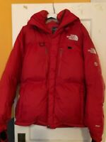 THE NORTH FACE Himalayan Parka Summit Series 800 Down Jacket Tag Size L Red