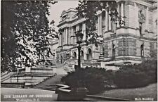 The Library of Congress Main Building in Washington, D. C. 1950's Photo Postcard