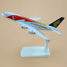 Air Singapore Airlines Flag Airbus 380 A380 Aircraft 16cm Airplane Model Plane