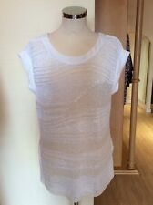 Aldo Martins Top Size 18 BNWT Cream Open Knit RRP £129 Now £38