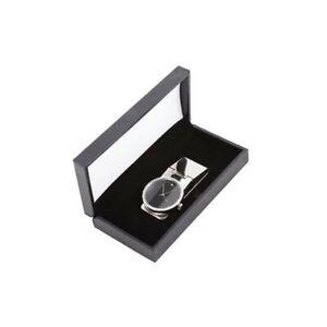 Metal Money Clip Watch with Swarovski Crystal Decoration