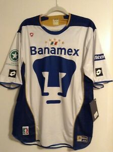 Pumas De La UNAM Authentic Lotto Vintage Soccer Jersey
