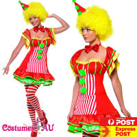 Womens Boo Boo the Clown Costume Ladies Funny Circus Hens Party Fancy Dress