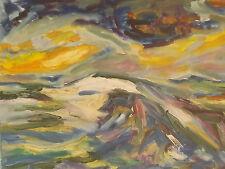 """Peinture Tableau Marine"""" la vague"""" huile sur toile 46cm/38cm Picard  cotation"""