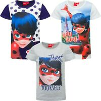 Girls Kids Children Miraculous Ladybug T-shirt Top Tee age 3-8 years 100%Cotton