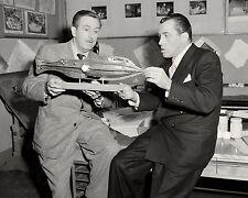 WALT DISNEY WITH ED SULLIVAN IN 1953 - 8X10 PUBLICITY PHOTO (AZ028)