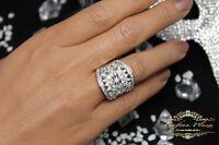 Damenring Ring 925 Sterling Silber mit Weisstopas Topaz Topas Unikat Sehr Edel