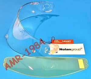 VISIERA ORIGINALE  NOLAN N90- N91 CLEAR + VISIERINA INTERNA ANTIFOG  SPAVIS203