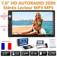 """7.0"""" HD Tactile Autoradio 2DIN Bluetooth Voiture MP5 Stéréo Lecteur MP5 USB AUX"""