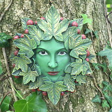 Lady Tendril Green Man Garden Ornmanet Wall Plaque Outdoor Frostproof 09066