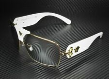 VERSACE VE2207Q 10026G Gold Light Grey Mirror Silver 38 mm Unisex Sunglasses