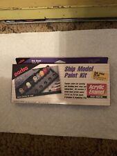 New Vintage Paint Kit Ship Model IN BOX 9 Pactra Acrylic Paint 1/4 fl oz K504