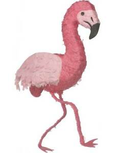Pink Flamingo Bird Pinata Childs Kids Sweets Mexican Party Game Accessory New