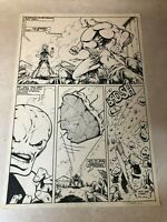 DALE KEOWN (pitt hulk) RARE EARLY ART 1985 SIGNED action page RIP OUT ORGANS