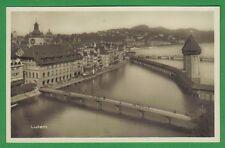 g Luzern um 1920  Rathaus Kapellbrücke Rathaussteg Unter der Egg TOPP