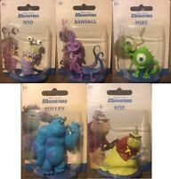 Disney Pixar Monsters Inc Mini Action Figures - Mike, Sully, Boo, Randall, Roz
