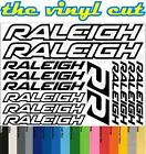 Raleigh Die-cut decal / sticker sheet (cycling, mtb, bmx, road, bike)
