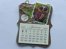 OWL LOVERS LOVE YOU  HANDMADE 2019 MAGNETIC CALENDAR TEAR OFF PAGES