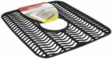 New Rubbermaid Microban Sink Mat Protector kitchen Black antimicrobial NWT