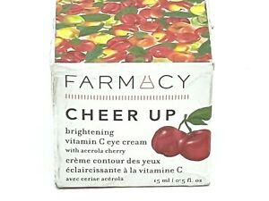 FARMACY CHEER UP BRIGHTENING VITAMIN C EYE CREAM (Full Size/.5oz/Sealed/BNIB)