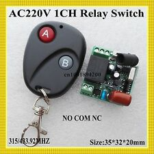 AC220V Mini Relay Receiver NO COM NC Normally Open Closed RF Switching Value Wir