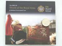 2009 Royal Mint Royal Shield of Arms Brilliant Uncirculated £1 One Pound Coin