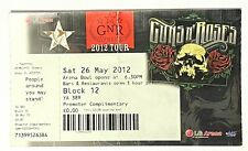 GUNS N ROSES - Used Concert Ticket Stub Birmingham LG ARENA 26 May 2012