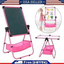 Adjustable Art Easel Whiteboard&Chalkboard Double Sided Stand For Kids Pink