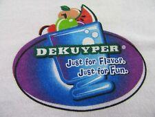 "DEKUYPER Dutch Liquor Cocktails ""Get Mixed Up With flavor"" T Shirt Sz XL (NWOT)"