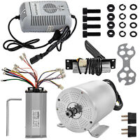 1800W 48V Electric Brushless DC Motor w/ Speed Controller Charger Pedal Kit
