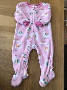 Absorba Girls Fleece Sleepsuits Age 12 Months