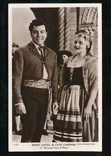 Cinema MARIO LANZA CATH CHAPMAN Because you're Mine c1950s RP PPC