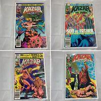 (Lot Of 4) Ka-Zar The Savage Marvel Comics Numbers 3, 7, 8, 12  -1981