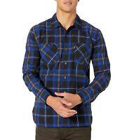 Levi's Mens Shirt Blue Size Small S Button Down Hobel Plaid Dual Pockets $54 015