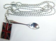 Detachable 'Patriotic Charlie' Festival Spoon Necklace Snuff Sniff World Cup