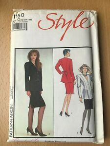 New Unused Vintage Style Sewing Pattern Misses Jacket & Skirt Size 12-14-16