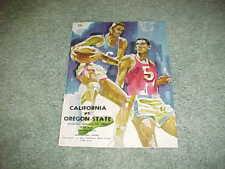1968 Oregon State Beavers v California Golden Bears Basketball Program 2/24