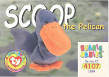 Ty Beanie Babies Bboc Card - Series 2 Common - Scoop the Pelican - Nm/Mint