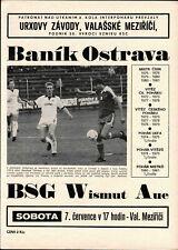 IFC 1984 Banik Ostrava - BSG Wismut Aue, 07.07.1984