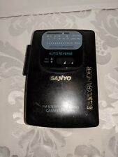 SANYO BassXPander AM/FM Stereo Cassette Walkman FOR PARTS