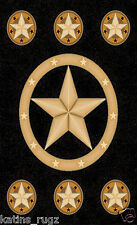 Texas Star Cowboy Western 8x11 Area Rug Black Carpet Actual Size 7'7 x 10'