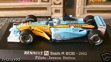 RENAULT F1 TEAM R202 2002 BLUE WORLD 1/43 JENSON BUTTON UNIVERSAL HOBBIES