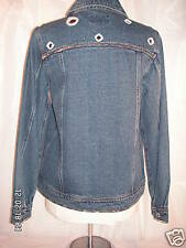 B.T. LIMITED WOMEN'S JEAN JACKET W/SEQUENCES, SMALL NEW