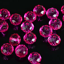free shipping 30pcs rose exquisite Glass Crystal 6x8mm #5040 loose beads'55