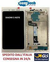 Touch Screen  LCD Display Vetro Schermo con Frame Per XiaoMi Redmi NOTE 5 Bianco