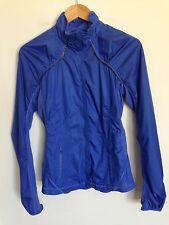 Lululemon Jacket Blue Purple Long Sleeve Ruch Ruffle Wind Breaker Size 4