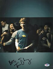 Jesse Eisenberg Signed 11x14 Photo PSA/DNA The Social Network Facebook Picture