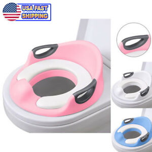 Potty Trainer Toilet Chair Seat For Kids Boys Girls Baby Toddlers Cushion Handle